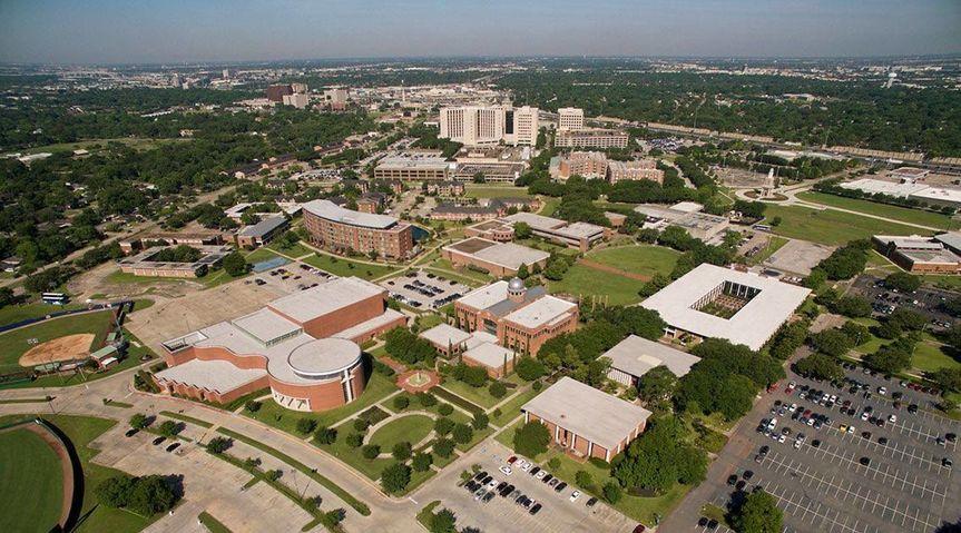Aerial view of Houston Baptist University