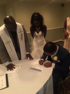 Marriage contract signing