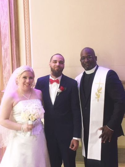 The pastor and the couple