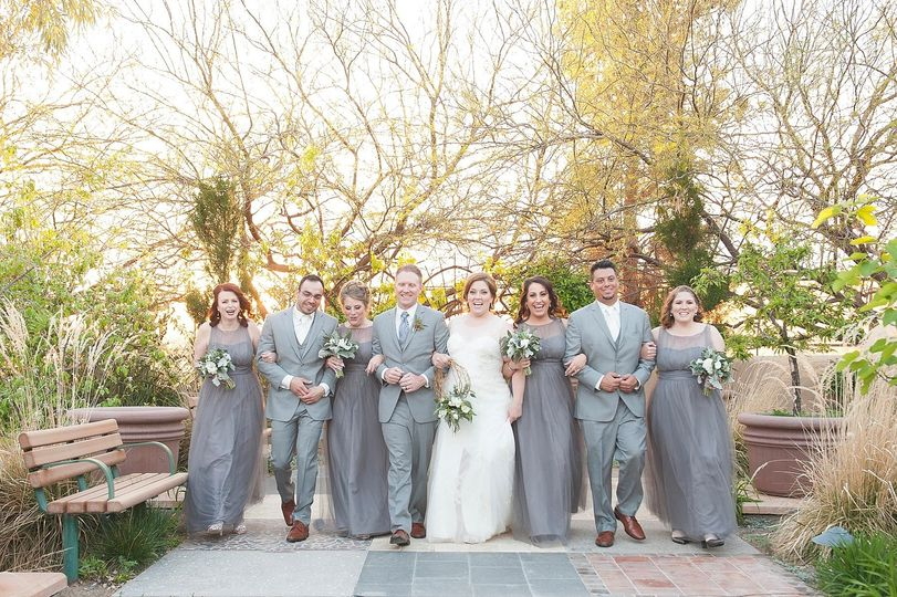 Couple with the bridal party