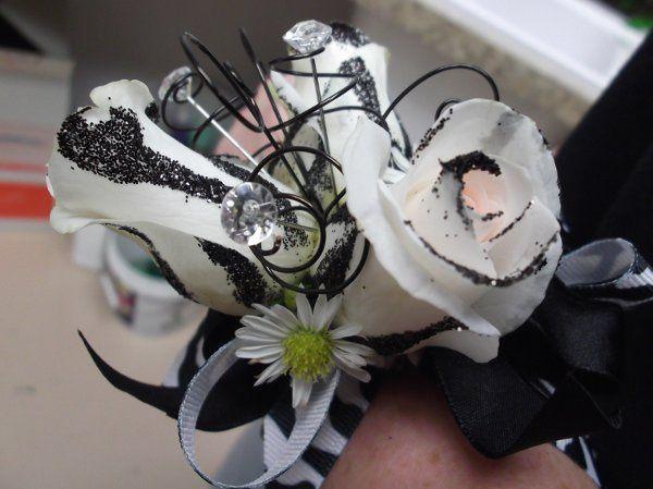 Zebra stripe roses!
