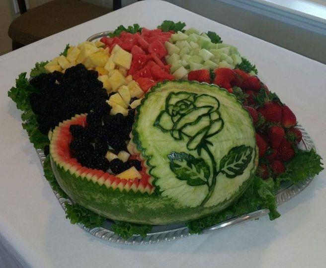 Custom Watermelon Carvings