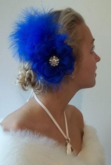 Royal Blue Roaring 20's Fascinator