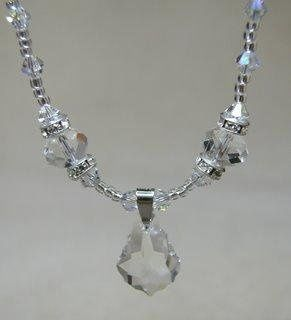 Elegant Victorian Style Necklace. Swarovski Crystals.