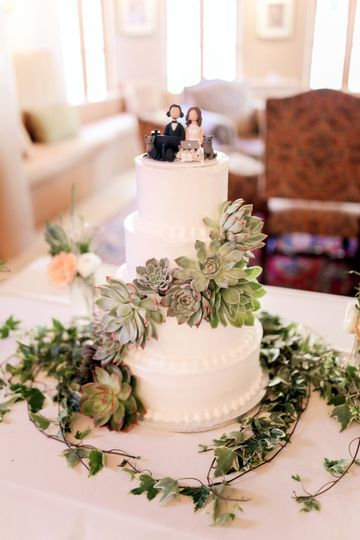 Succulents Buttercream Cake