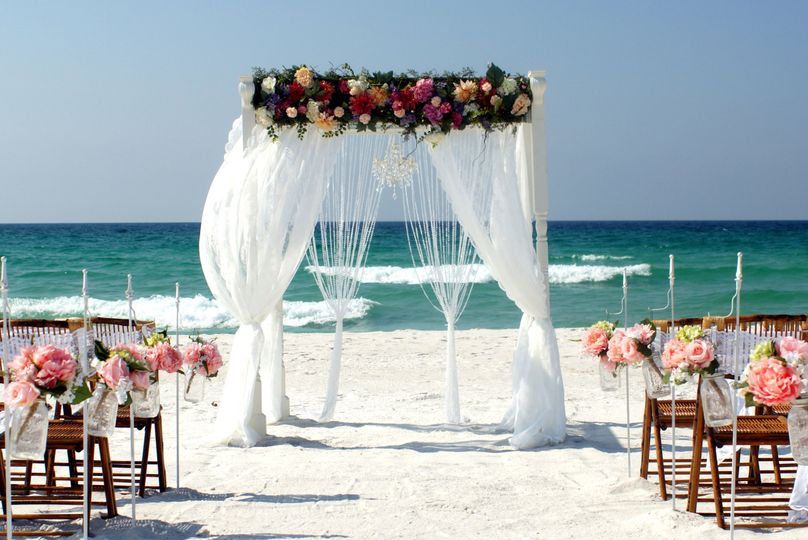 Southern Charm beach wedding package in Sunset colors