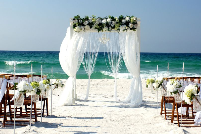 Southern Charm beach wedding package in Magnolia colors