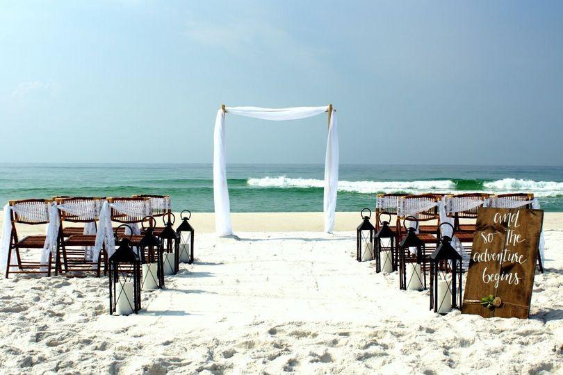 Island Girl Deluxe beach wedding package Classic