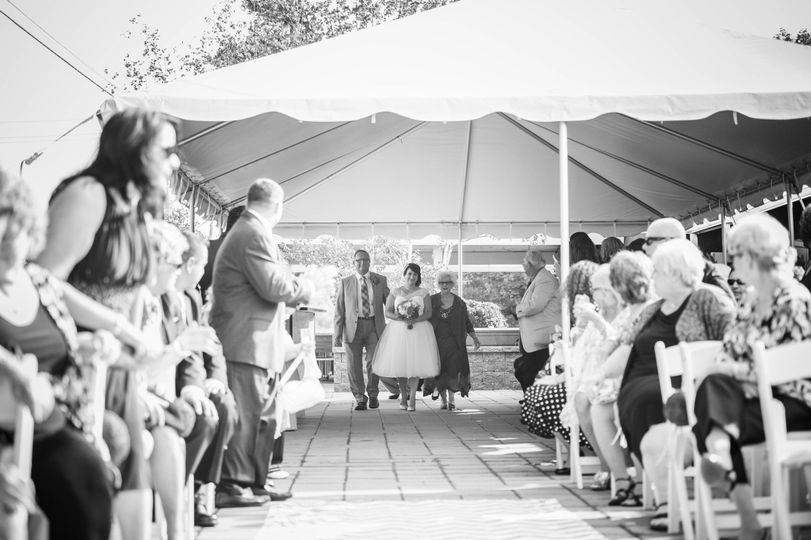 Wedding ceremony in black and white