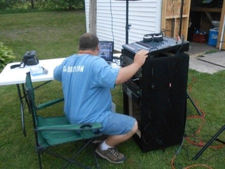 our djs hard at work