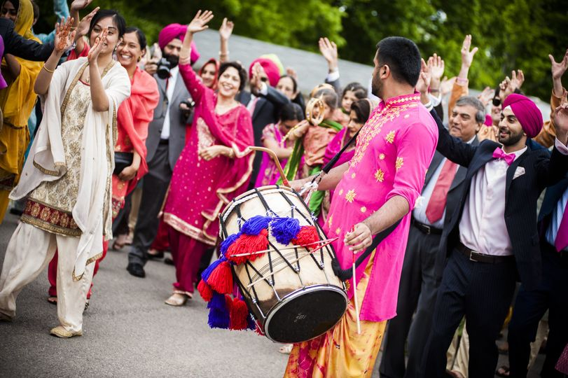 Dhol Players are a great way to hype the crowd!