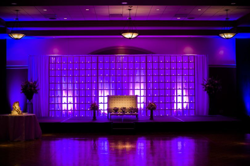 Uplighting can set the specific ambience you are looking for.