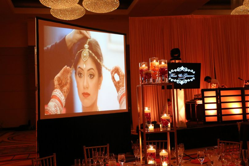 Rear Projector / Screen / LED TV's / Moving-Heads / Uplighting