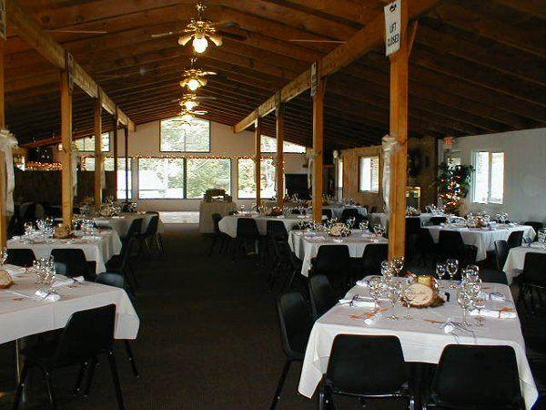 Black Mountain wedding set up.
