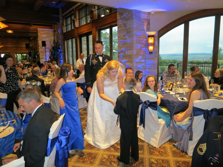 A Sharp Dj Service at a country club reception