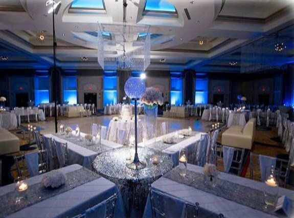 Ballroom in Blue and Silver