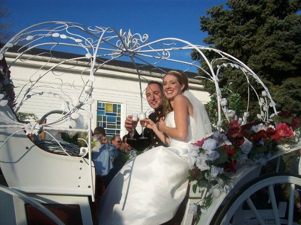 Horse and Carriage ride after ceremony