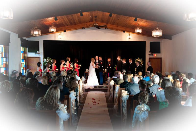Indoor beautiful military wedding ceremony