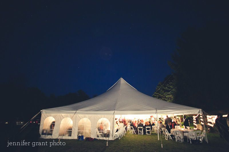 Outdoor Reception in our beautiful white cathedral tent