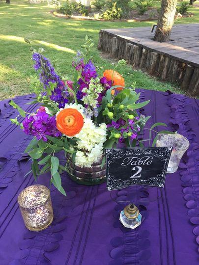 Purple and orange palette