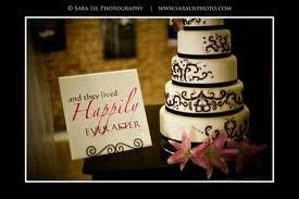 Place a tile on an easel next to your wedding cake and let inspiration take over.  When the cake is...