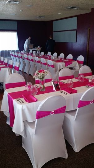 Pink bow chairs