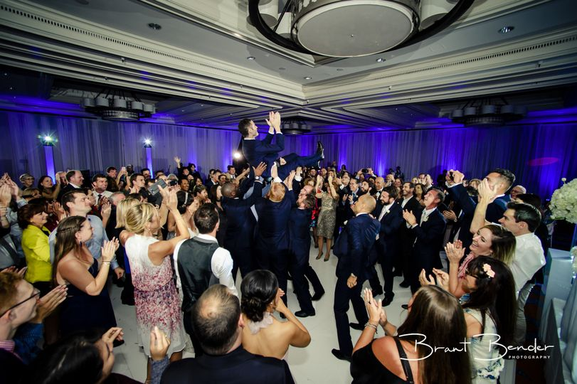 Tossing the groom