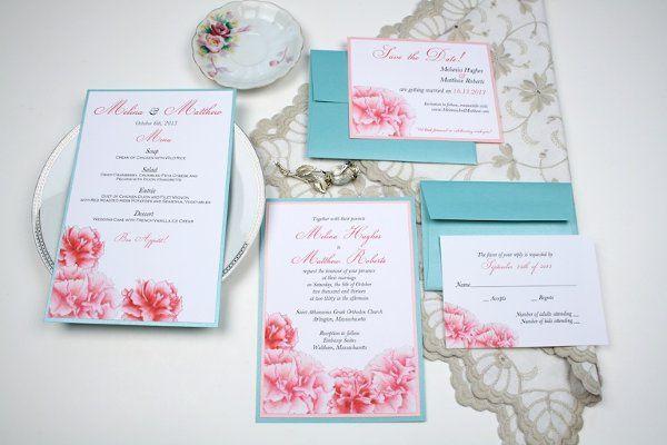 Carnation Wedding Invitation Suite