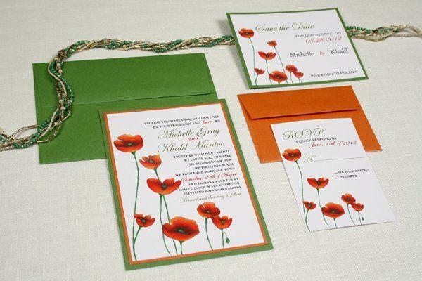 Poppy Blossom Wedding invitation Suite