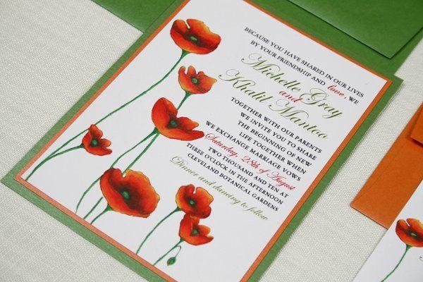 Poppy Wedding Invitation Suite