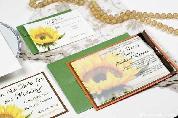 Sunflower Wedding Invitation Suite