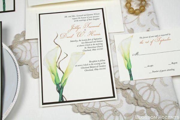 White Calla Lily Wedding Invitation Suite