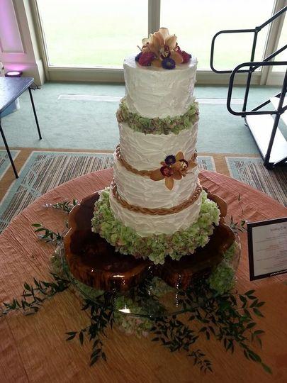 Four tier fruit cake