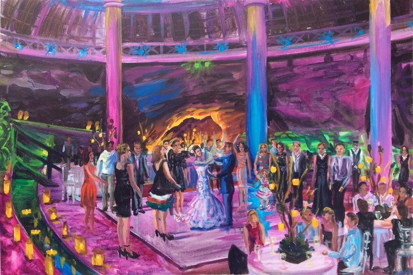 "Destination wedding at Xcaret Park, Playa del Carmen, Mexico, 24"" X 36"""
