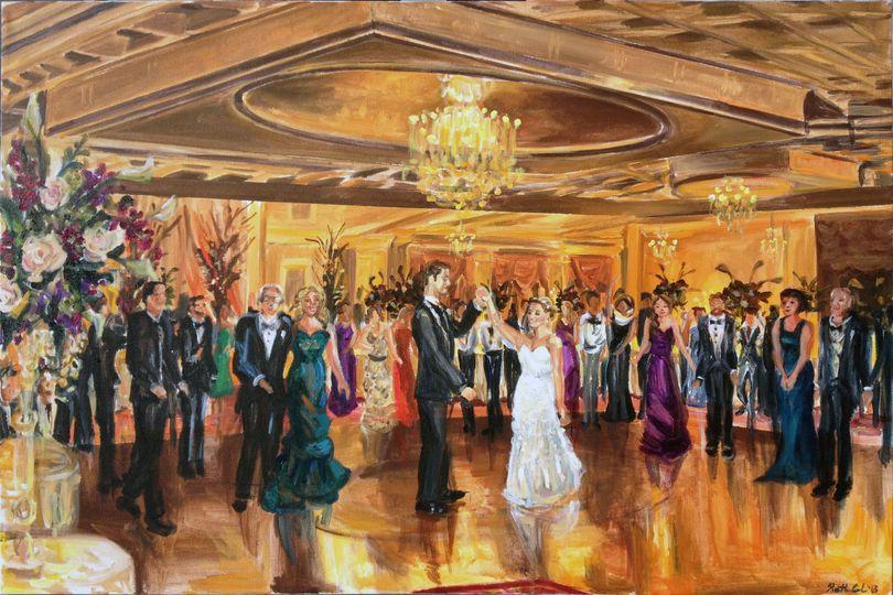 "Wedding reception at the Inn at New Hyde Park, Long Island, 24""X 36"""