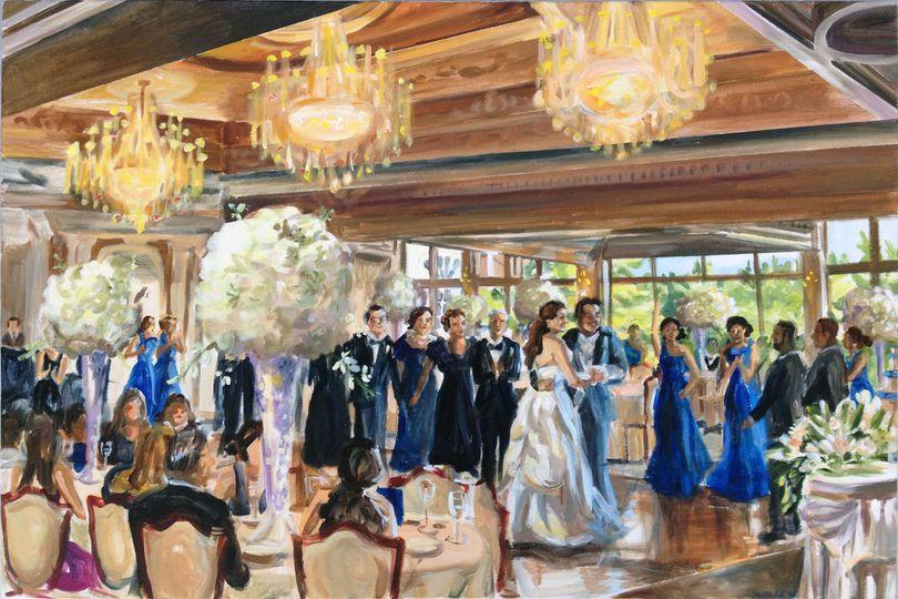 "Wedding Reception at the Park Savoy Estate, NJ, 24"" X 36."""