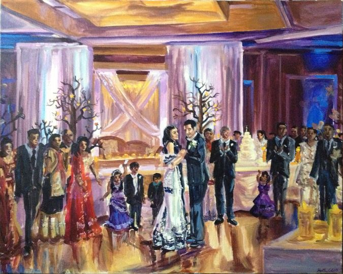 """Indian wedding reception at the Doubletree Hotel, Somerset, NJ, 24"""" X 30"""""""
