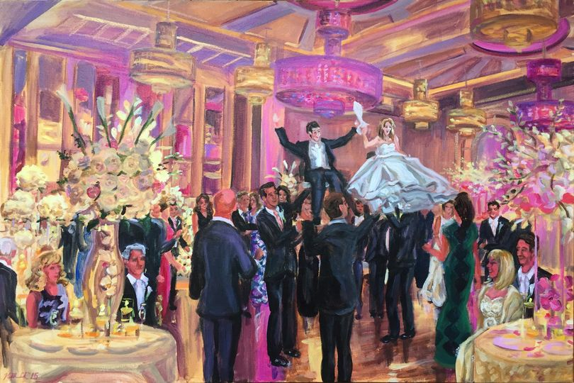"""Hora dance at the Grove, NJ, 24"""" X 36"""""""