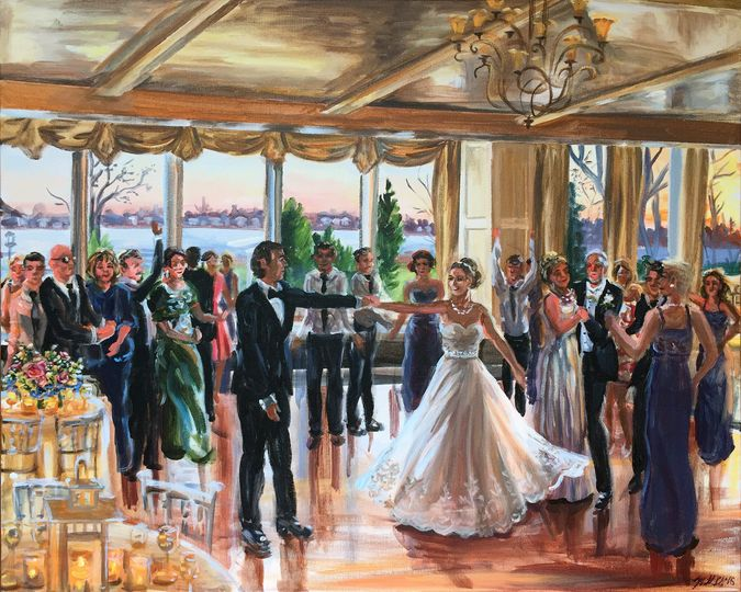 """First dance, Greentree Country Club, CT, 24"""" X 30"""""""