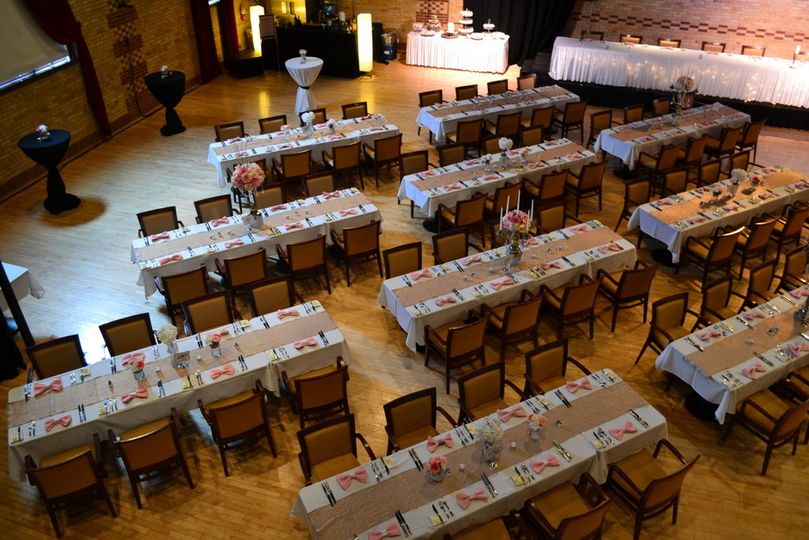 Decor by Best Events Catering. Venue: The Janesville Armory