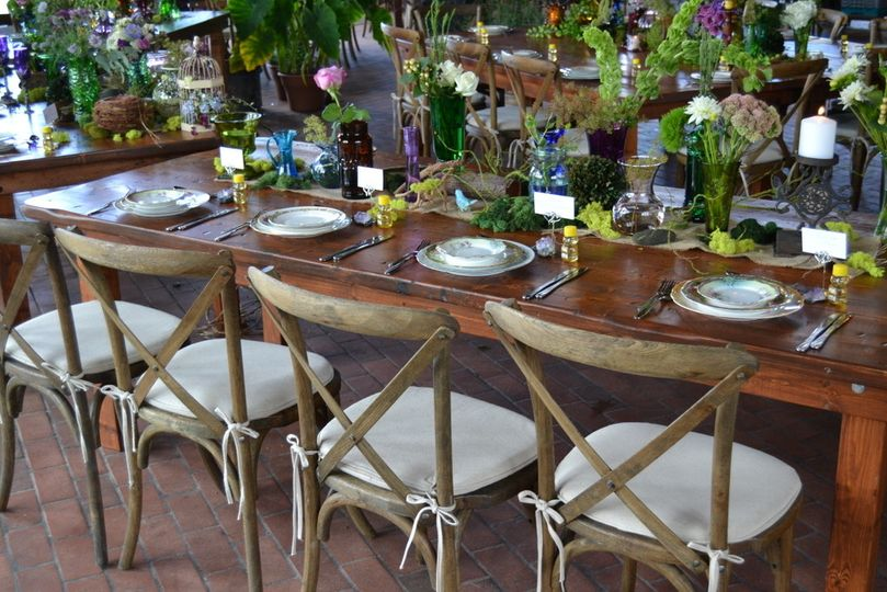 Rustic wedding decor by Best Events Catering