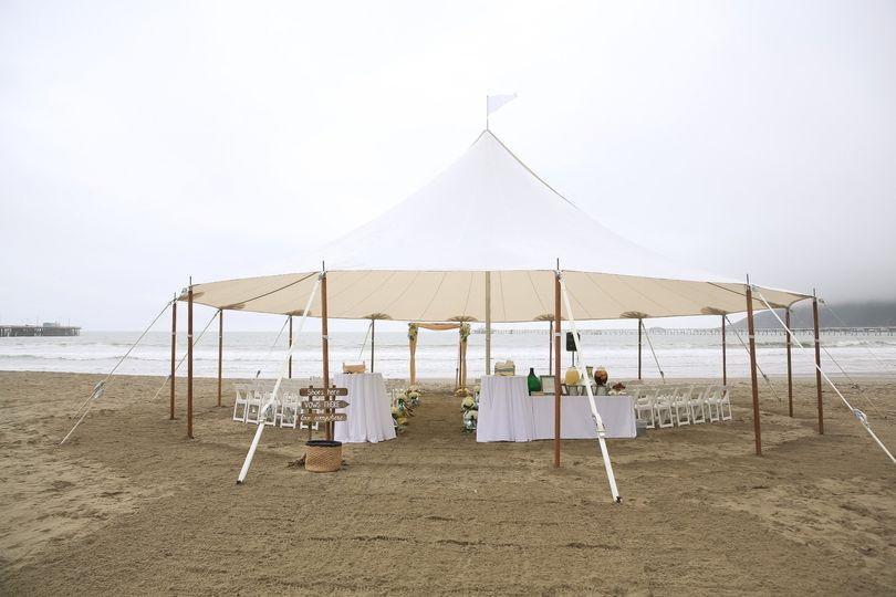 Tented beach ceremony