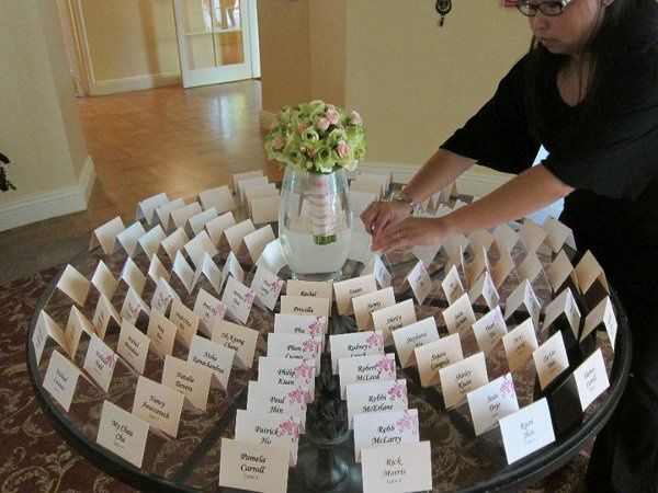 Wedding table assignment card