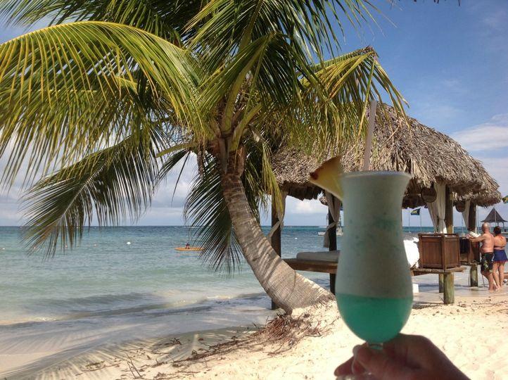 Blue Hawaiian on the beach