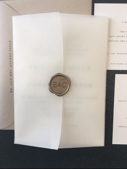 Vellum jacket and wax seal