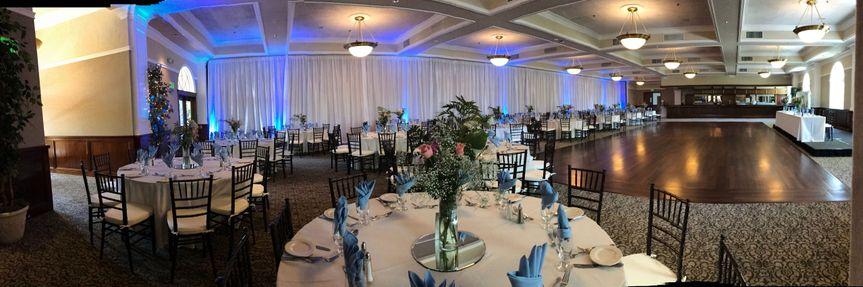 Panorama shot of reception layout