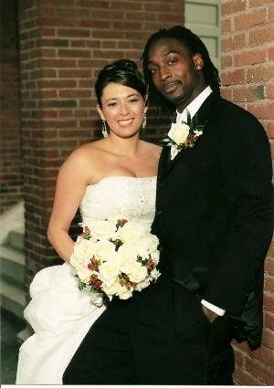 C. Tillman #34 of the Chicago Bears and his lovely wife