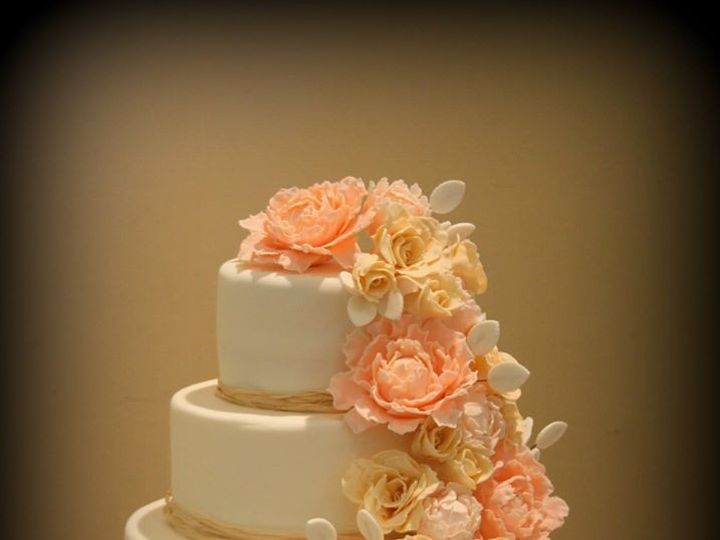 Tmx 1451259415649 Peonies Wells wedding cake