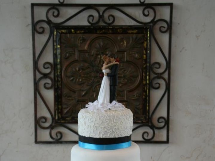 Tmx 1451261228583 Antique Lace Black And Blue Wells wedding cake