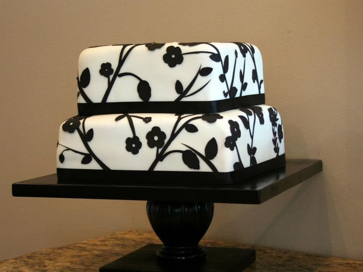 Tmx 1451261252896 Black And White Wells wedding cake